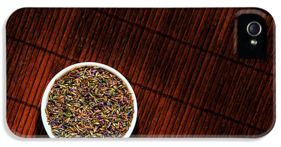 Aromatherapy IPhone 5 Case featuring the photograph Lavender Flower Seeds In Dish by Olivier Le Queinec