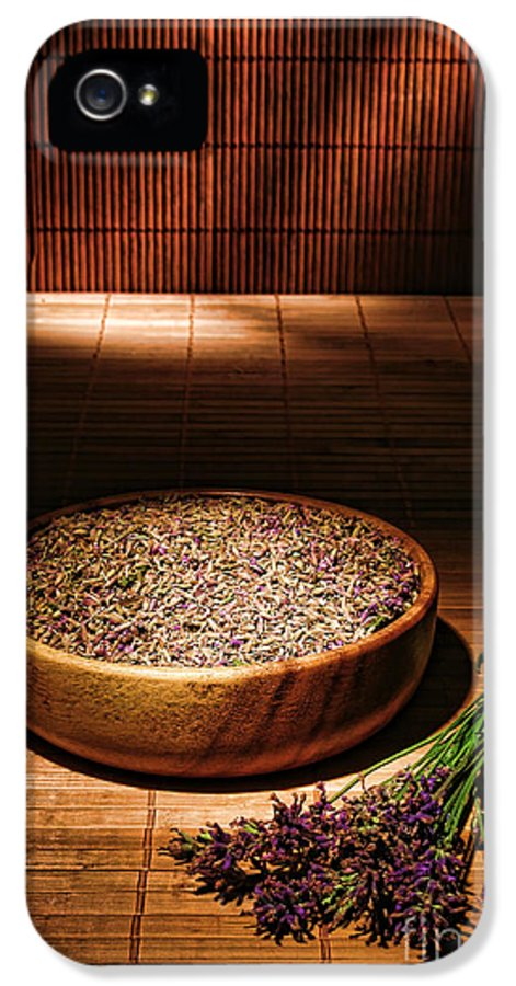 Aromatherapy IPhone 5 Case featuring the photograph Lavender Flowers And Seeds by Olivier Le Queinec
