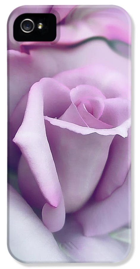 Rose IPhone 5 Case featuring the photograph Lavender Rose Flower Portrait by Jennie Marie Schell