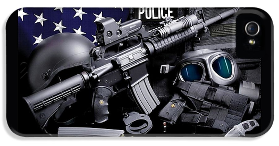 Law Enforcement IPhone 5 Case featuring the photograph Law Enforcement Tactical Police by Gary Yost
