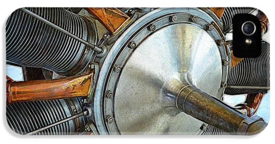 Airplane Engine IPhone 5 Case featuring the photograph Le Rhone C-9j Engine by Michelle Calkins