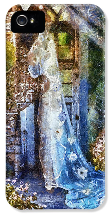 Leaving Wonderland IPhone 5 Case featuring the painting Leaving Wonderland by Mo T