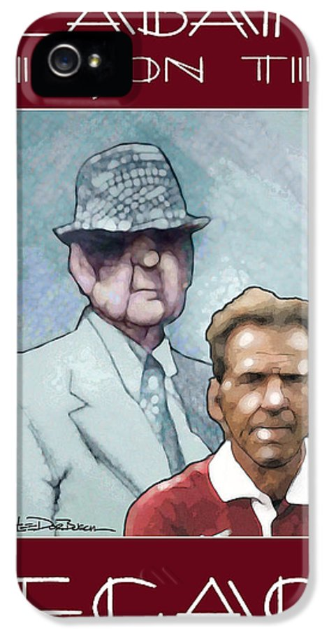 Bear Bryant IPhone 5 Case featuring the painting Legacy - Bear by Jerrett Dornbusch