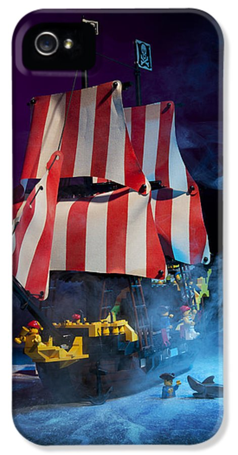 Pirate Ship IPhone 5 Case featuring the photograph Lego Pirate Ship by Samuel Whitton