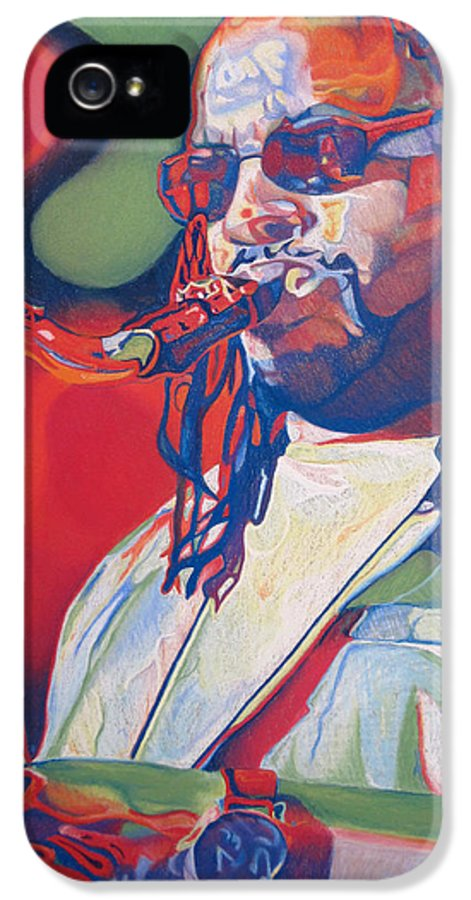Leroi Moore IPhone 5 Case featuring the drawing Leroi Moore Colorful Full Band Series by Joshua Morton