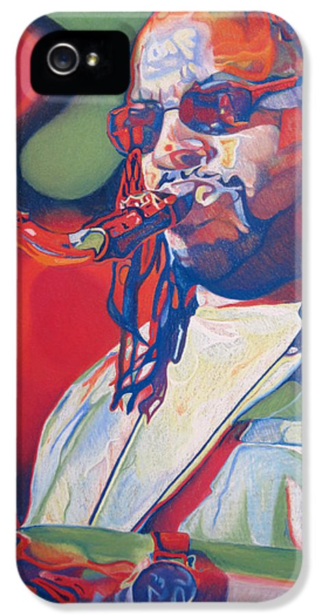 Leroi Moore IPhone 5 / 5s Case featuring the drawing Leroi Moore Colorful Full Band Series by Joshua Morton