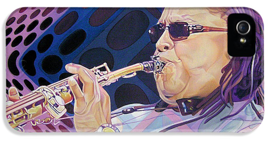 Leroi Moore IPhone 5 Case featuring the drawing Leroi Moore by Joshua Morton