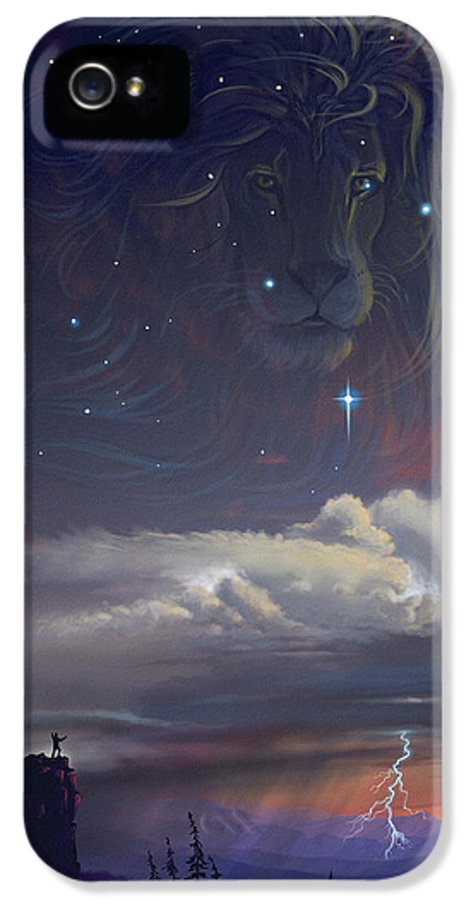 Inspirational IPhone 5 Case featuring the painting Let The Wind Blow by Cliff Hawley