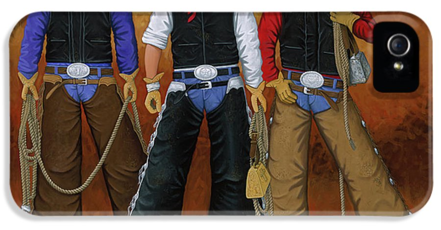 Eight Seconds IPhone 5 Case featuring the painting Let's Ride by Lance Headlee