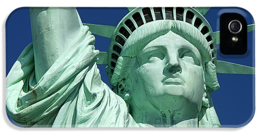 Statue IPhone 5 Case featuring the photograph Liberty by Brian Jannsen
