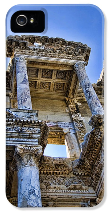 Ephesus IPhone 5 Case featuring the photograph Library Of Celsus by David Smith