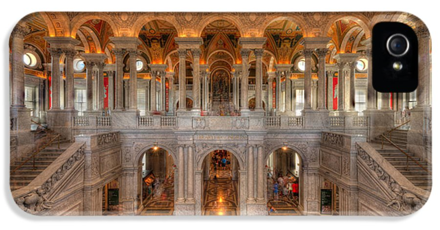 Library Of Congress IPhone 5 Case featuring the photograph Library Of Congress by Steve Gadomski