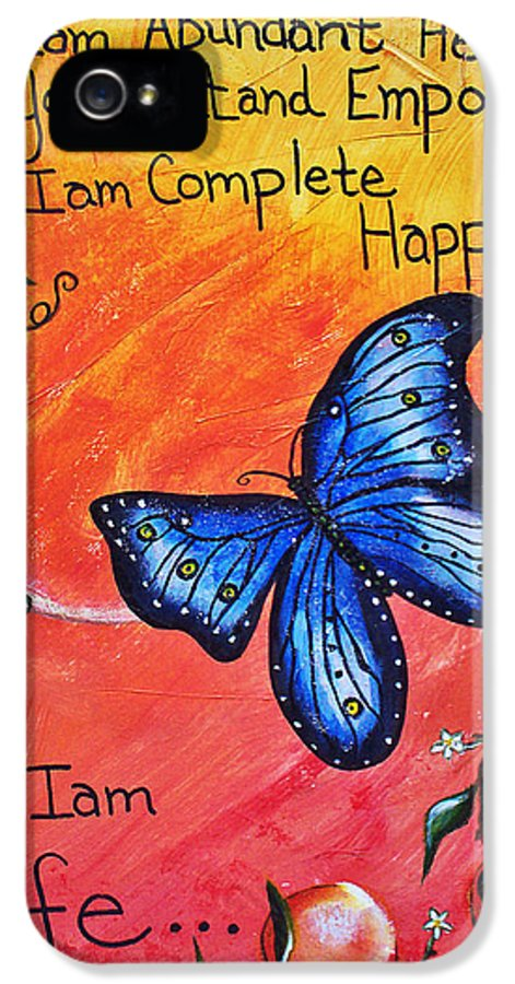 Life IPhone 5 Case featuring the painting Life - Healing Art by Absinthe Art By Michelle LeAnn Scott