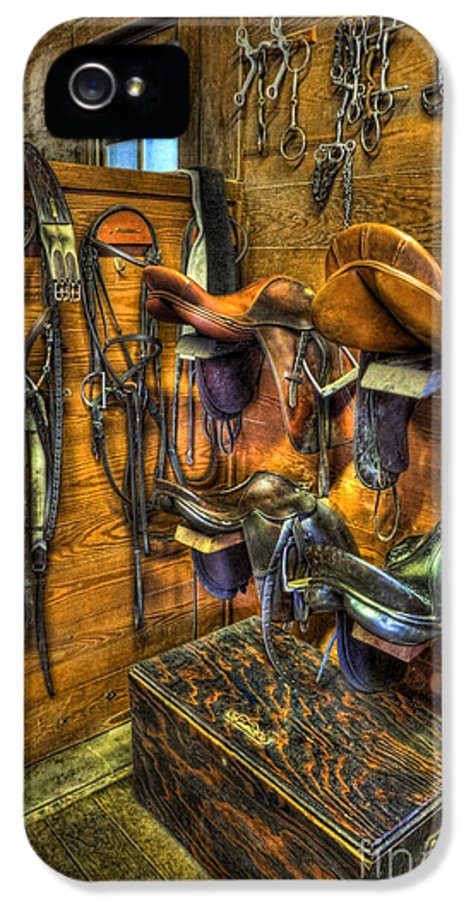 Kentucky Derby IPhone 5 / 5s Case featuring the photograph Life On The Ranch - Tack Room by Lee Dos Santos