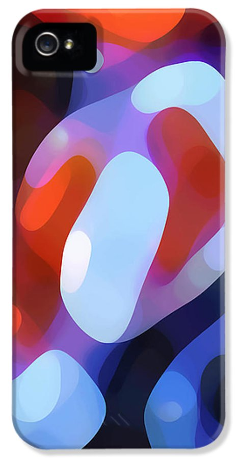 Abstract IPhone 5 Case featuring the painting Light Through Fall Leaves by Amy Vangsgard