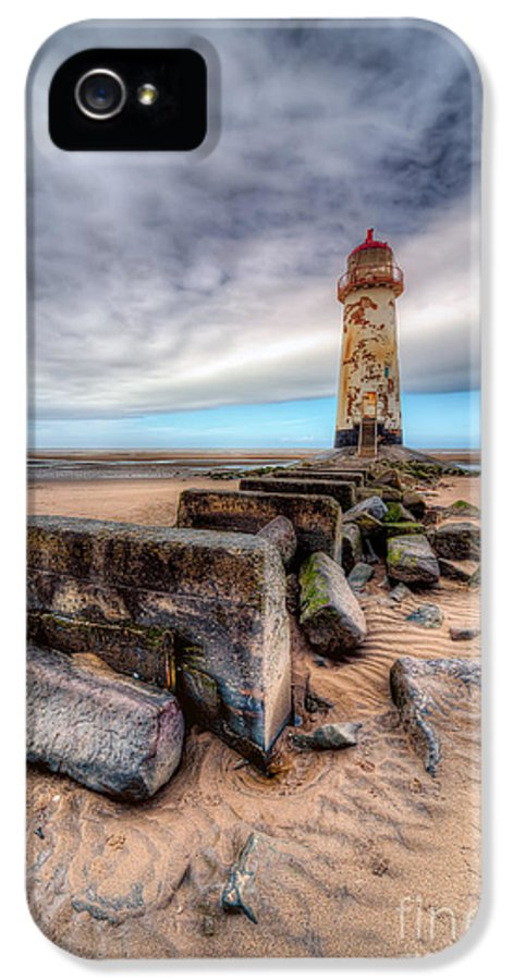 Beach IPhone 5 Case featuring the photograph Lighthouse At Talacre by Adrian Evans