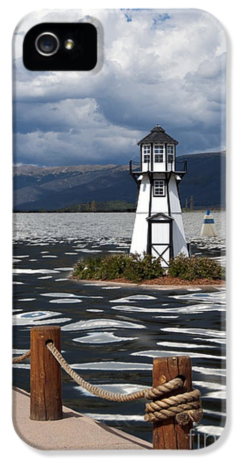Building Exterior IPhone 5 Case featuring the photograph Lighthouse In Lake Dillon by Juli Scalzi