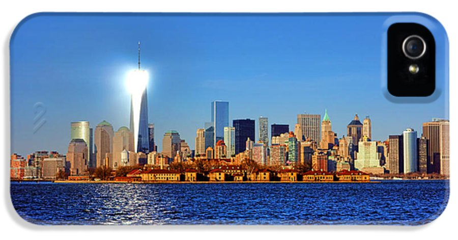 New IPhone 5 Case featuring the photograph Lighthouse Manhattan by Olivier Le Queinec