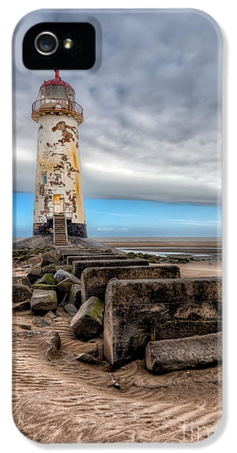 Beach IPhone 5 Case featuring the photograph Lighthouse Steps by Adrian Evans