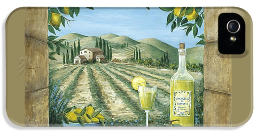 Tuscany IPhone 5 Case featuring the painting Limoncello by Marilyn Dunlap