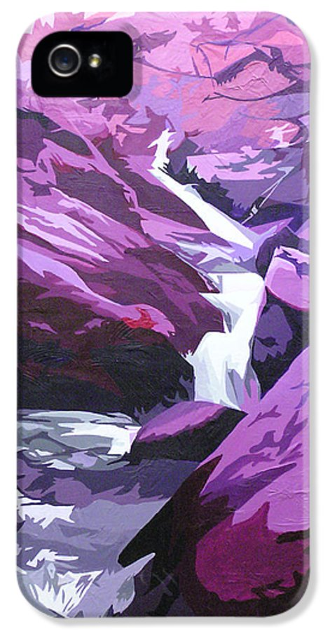 Creek IPhone 5 Case featuring the painting Limpy Creek by Joshua Morton
