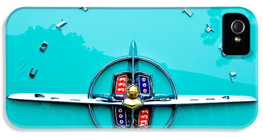 Lincoln Continental Rear Emblem IPhone 5 Case featuring the photograph Lincoln Continental Rear Emblem by Jill Reger
