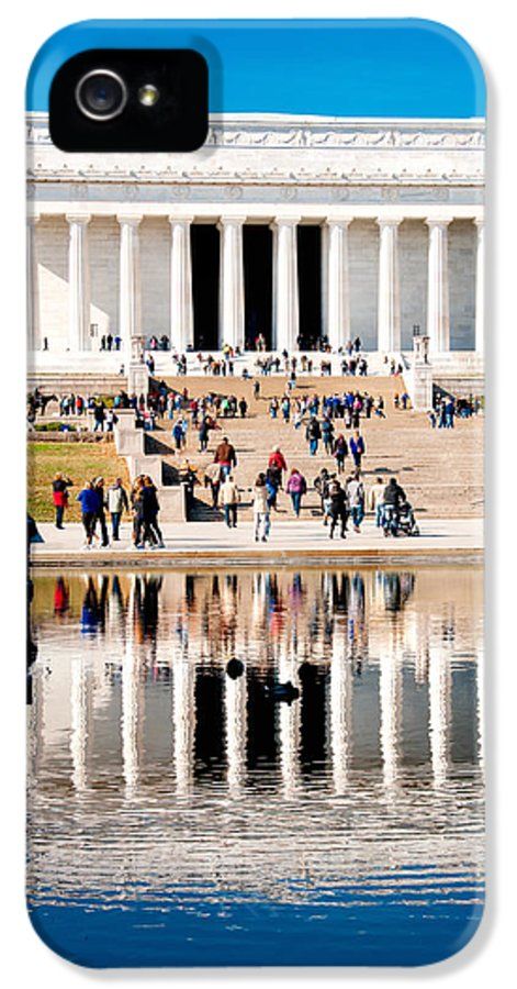 Arlington Cemetery IPhone 5 Case featuring the photograph Lincoln Memorial by Greg Fortier