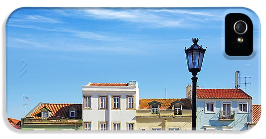 Alfama IPhone 5 Case featuring the photograph Lisbon Houses by Carlos Caetano