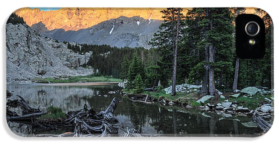 Little Bear IPhone 5 Case featuring the photograph Little Bear Peak And Lake Como by Aaron Spong