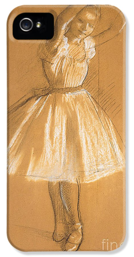 Petite Danseuse IPhone 5 Case featuring the drawing Little Dancer by Edgar Degas