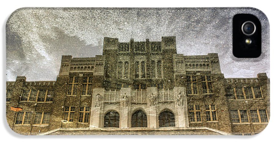 Little Rock Central High School IPhone 5 Case featuring the photograph Little Rock Central High Reflecting Upon The Past by Jason Politte