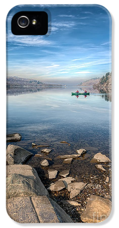 Autumn IPhone 5 Case featuring the photograph Llanberis Lake by Adrian Evans