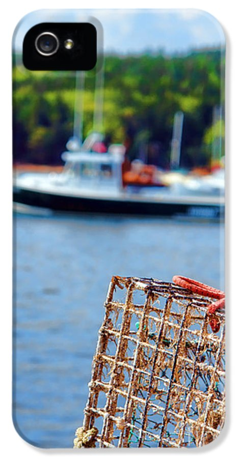 Maine IPhone 5 Case featuring the photograph Lobster Trap In Maine by Olivier Le Queinec