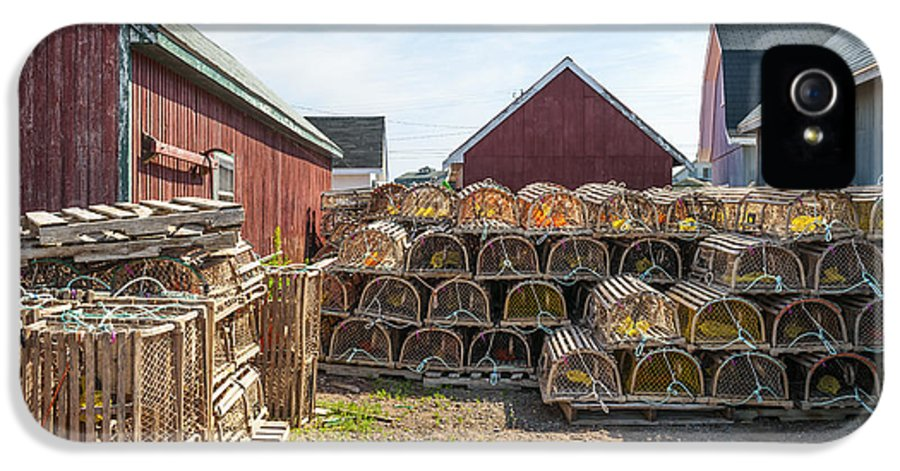 Lobster Traps IPhone 5 Case featuring the photograph Lobster Traps In North Rustico by Elena Elisseeva