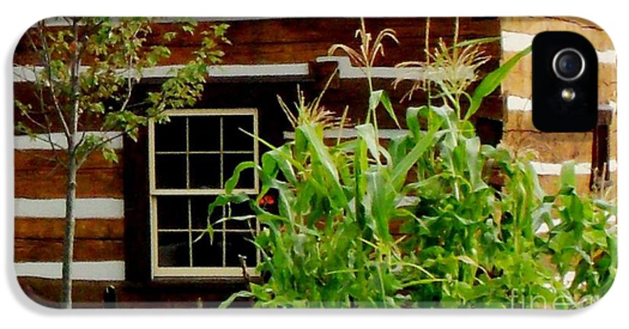 Log Cabin IPhone 5 Case featuring the photograph Log Cabin Window by Gail Matthews