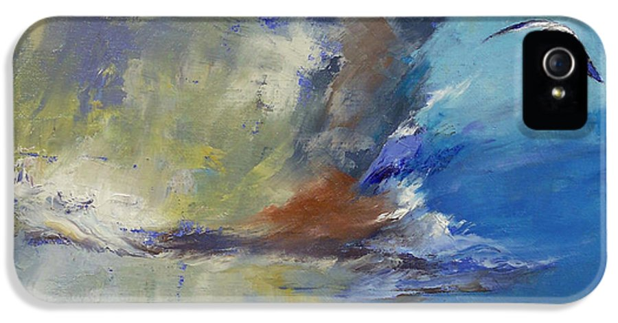 Loneliness IPhone 5 Case featuring the painting Loneliness by Michael Creese