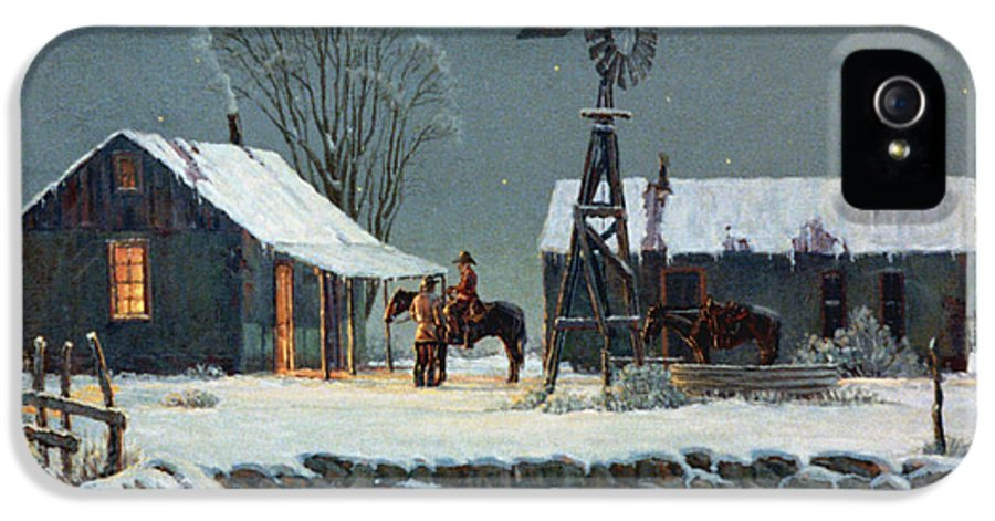 Night IPhone 5 Case featuring the painting Long Day's End by Randy Follis