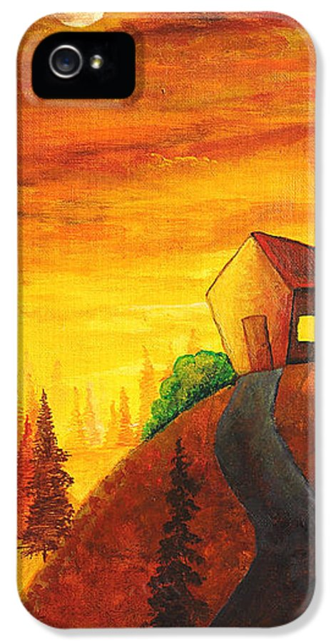 Apartment IPhone 5 Case featuring the painting Long Way To Home by Nirdesha Munasinghe
