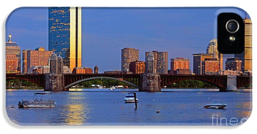 Boston IPhone 5 Case featuring the photograph Longfellow Bridge by Joann Vitali