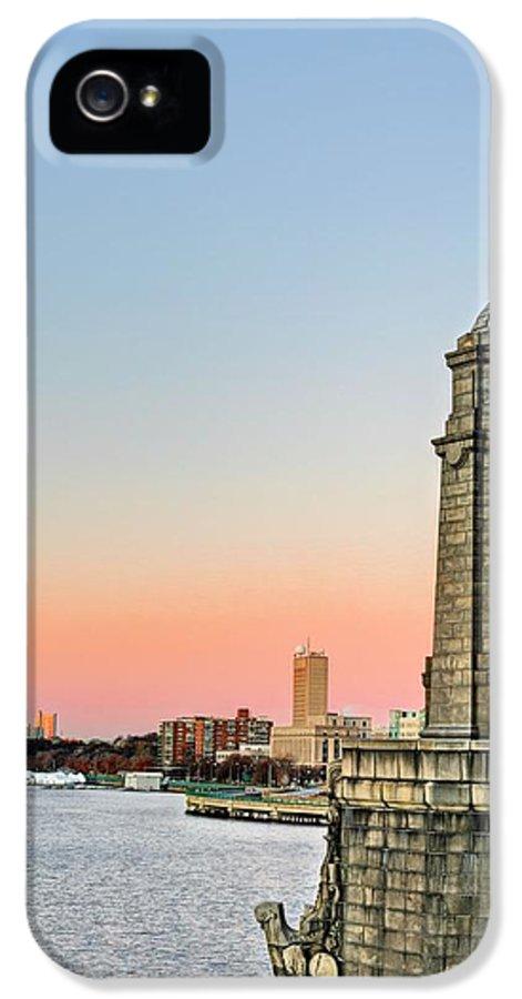 Longfellow Bridge IPhone 5 Case featuring the photograph Longfellow Bridge Tower by JC Findley