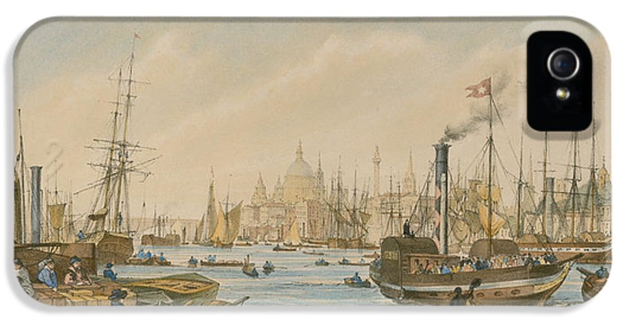William Parrot IPhone 5 Case featuring the painting Looking Towards London Bridge by William Parrot