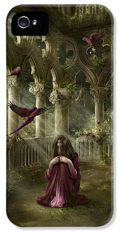 Fantasy IPhone 5 Case featuring the digital art Lost by Cassiopeia Art