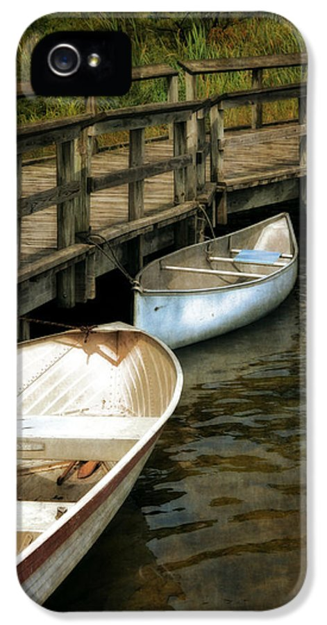 Canoe IPhone 5 Case featuring the photograph Lost Lake Boardwalk by Michelle Calkins
