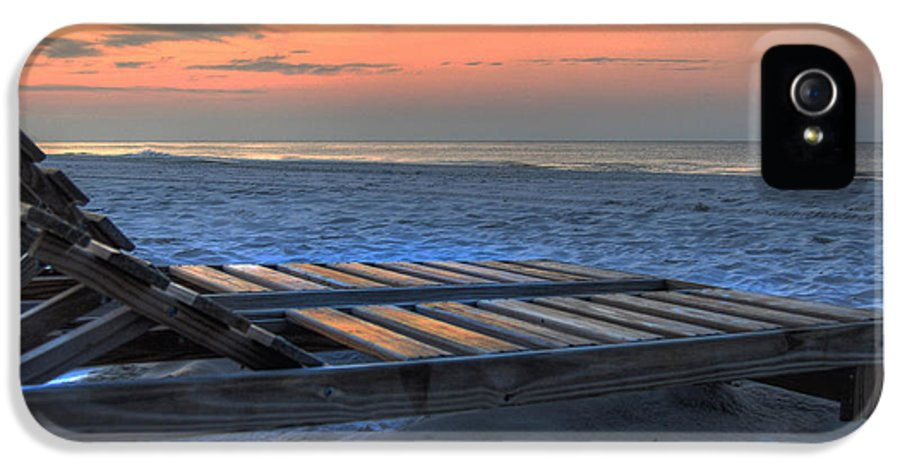 Alabama IPhone 5 Case featuring the painting Lounge Closeup On Beach ... by Michael Thomas