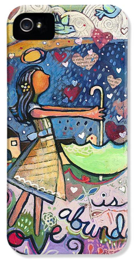Jen Norton IPhone 5 Case featuring the painting Love Is Abundant by Jen Norton
