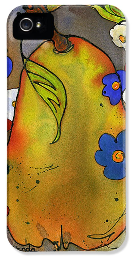 Flowers IPhone 5 Case featuring the painting Love Pear by Blenda Studio
