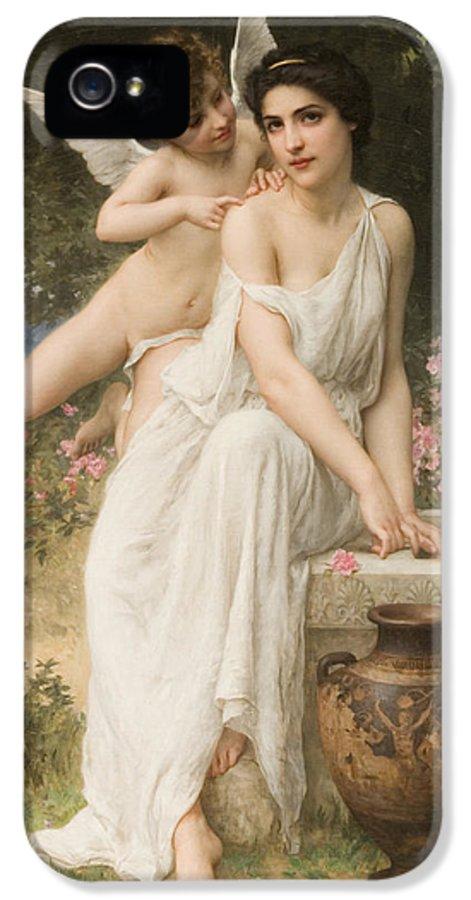 Love's Whisper IPhone 5 Case featuring the digital art Loves Whisper by Charles Lenoir