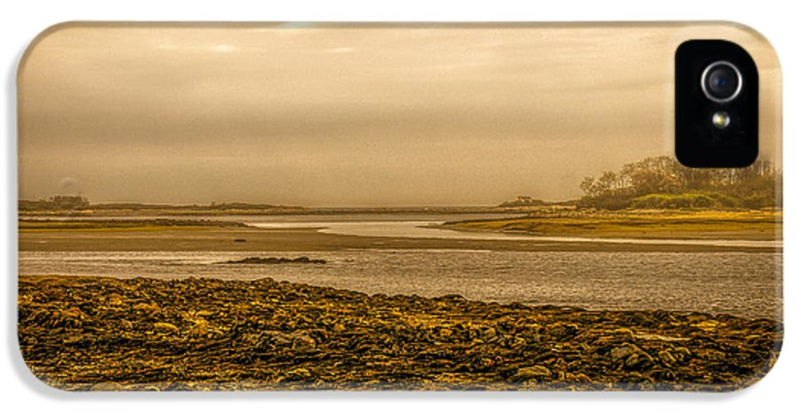 Atlantic Ocean IPhone 5 Case featuring the photograph Low Tide Cape Porpoise Maine by Bob Orsillo