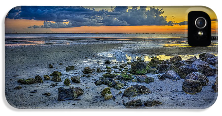 Tampa Bay IPhone 5 Case featuring the photograph Low Tide On The Bay by Marvin Spates
