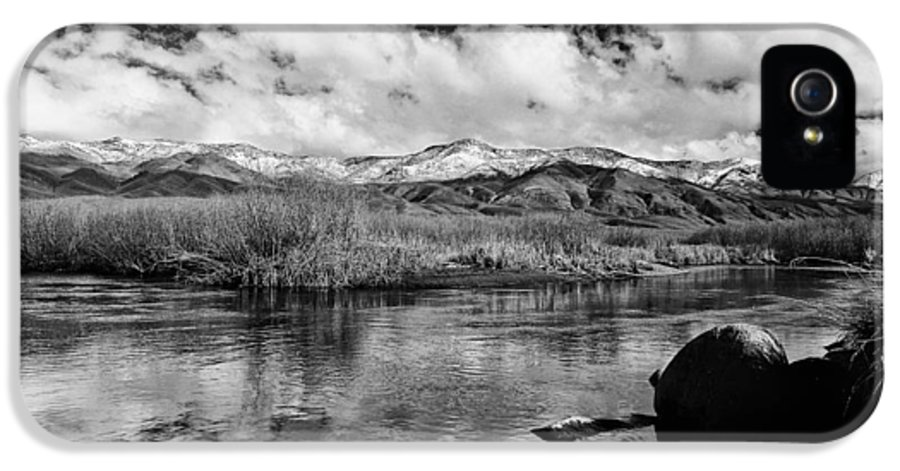 River IPhone 5 Case featuring the photograph Lower Owens River by Cat Connor
